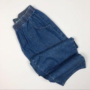 Vintage Cherokee High Rise Wide Leg Cropped Pants